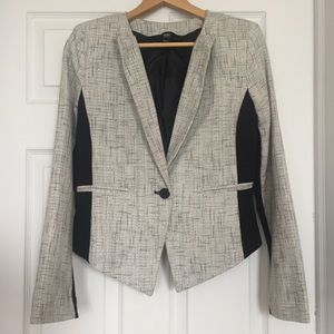 Mossimo black and silver blazer- one button
